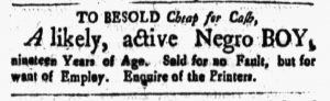 Apr 20 1770 - New-Hampshire Gazette Slavery 2