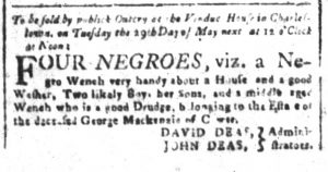 Apr 20 1770 - South-Carolina and American General Gazette Slavery 2