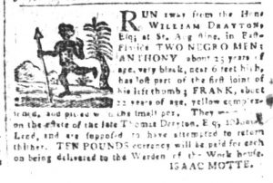 Apr 20 1770 - South-Carolina and American General Gazette Slavery 8
