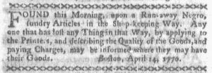 Apr 23 1770 - Boston-Gazette Slavery 2