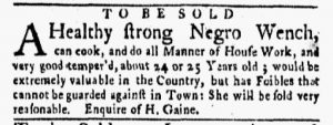 Apr 23 1770 - New-York Gazette and Weekly Mercury Slavery 1