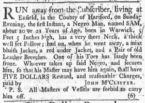Apr 23 1770 - Newport Mercury Slavery 1