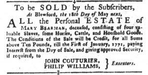 Apr 24 1770 - South-Carolina Gazette and Country Journal Slavery 2