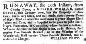 Apr 24 1770 - South-Carolina Gazette and Country Journal Slavery 3