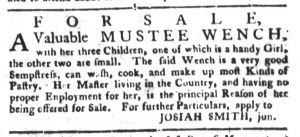 Apr 24 1770 - South-Carolina Gazette and Country Journal Slavery 5