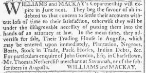 Apr 25 1770 - Georgia Gazette Slavery 4