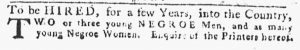 Apr 26 1770 - Pennsylvania Gazette Slavery 1