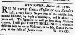 Apr 26 1770 - Virginia Gazette Rind Slavery 2
