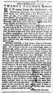 Apr 26 1770 - Virginia Gazette Rind Supplement Slavery 5
