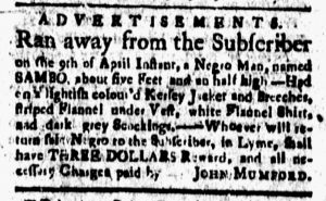 Apr 27 1770 - New-London Gazette Slavery 1