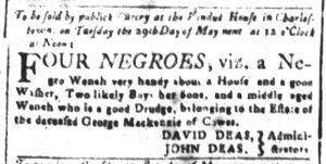 Apr 27 1770 - South-Carolina and American General Gazette Slavery 3