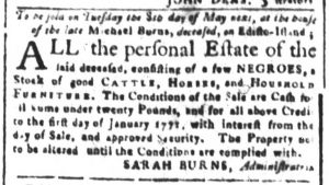 Apr 27 1770 - South-Carolina and American General Gazette Slavery 4
