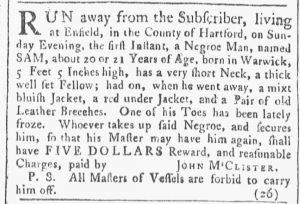 Apr 28 1770 - Providence Gazette Slavery 1