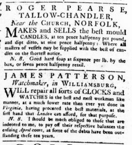 Apr 29 - 4:26:1770 Virginia Gazette Rind Supplement