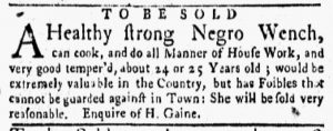 Apr 30 1770 - New-York Gazette and Weekly Mercury Supplement Slavery 3