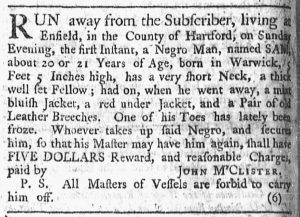 Apr 30 1770 - Newport Mercury Slavery 1
