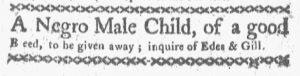Dec 10 1770 - Boston-Gazette Supplement Slavery 2
