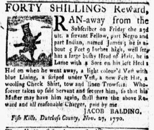 Dec 10 1770 - New-York Gazette and Weekly Mercury Slavery 1