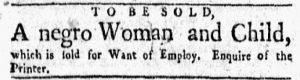 Dec 10 1770 - New-York Gazette and Weekly Mercury Slavery 2