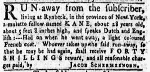 Dec 10 1770 - New-York Gazette and Weekly Mercury Slavery 3
