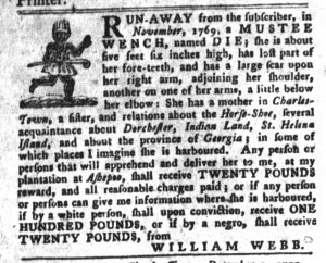 Dec 11 1770 - South-Carolina Gazette and Country Journal Slavery 10