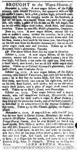Dec 11 1770 - South-Carolina Gazette and Country Journal Slavery 11