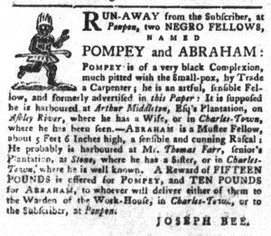 Dec 11 1770 - South-Carolina Gazette and Country Journal Slavery 3