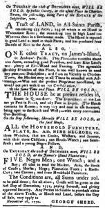 Dec 11 1770 - South-Carolina Gazette and Country Journal Slavery 6