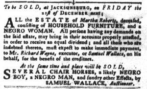 Dec 11 1770 - South-Carolina Gazette and Country Journal Slavery 7