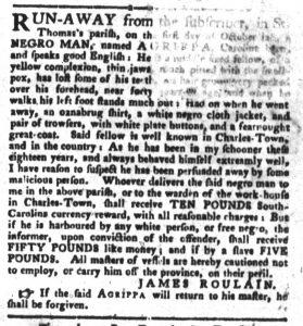 Dec 11 1770 - South-Carolina Gazette and Country Journal Slavery 8
