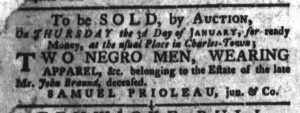 Dec 11 1770 - South-Carolina Gazette and Country Journal Slavery 9