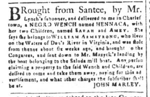 Dec 11 1770 - South-Carolina and American General Gazette Slavery 2