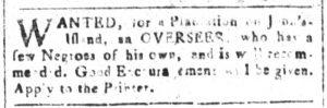 Dec 11 1770 - South-Carolina and American General Gazette Slavery 3