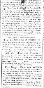 Dec 11 1770 - South-Carolina and American General Gazette Slavery 4