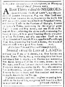 Dec 11 1770 - South-Carolina and American General Gazette Slavery 5