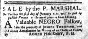 Dec 11 1770 - South-Carolina and American General Gazette Slavery 6