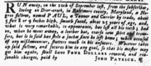 Dec 13 1770 - Pennsylvania Gazette Slavery 1