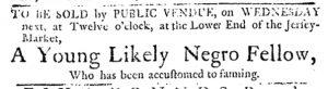 Dec 13 1770 - Pennsylvania Journal Slavery 1