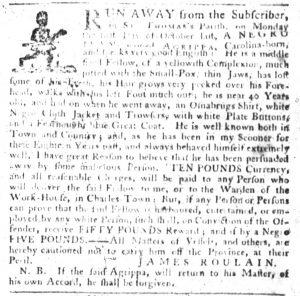 Dec 13 1770 - South-Carolina Gazette Slavery 10