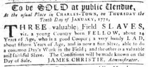 Dec 13 1770 - South-Carolina Gazette Slavery 4