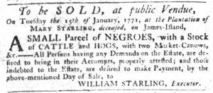 Dec 13 1770 - South-Carolina Gazette Slavery 5