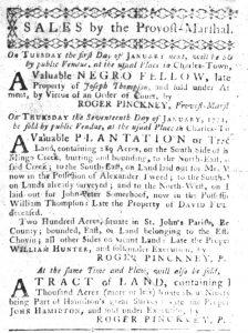 Dec 13 1770 - South-Carolina Gazette Slavery 7