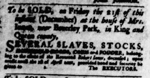 Dec 13 1770 - Virginia Gazette Purdie & Dixon Slavery 1