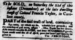 Dec 13 1770 - Virginia Gazette Purdie & Dixon Slavery 2