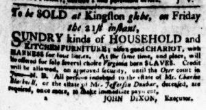 Dec 13 1770 - Virginia Gazette Purdie & Dixon Slavery 5