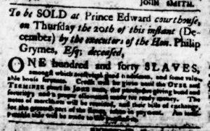 Dec 13 1770 - Virginia Gazette Purdie & Dixon Slavery 6