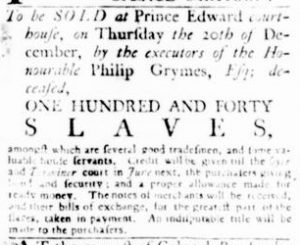 Dec 13 1770 - Virginia Gazette Rind Slavery 2