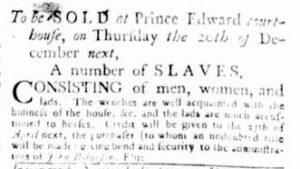 Dec 13 1770 - Virginia Gazette Rind Slavery 4