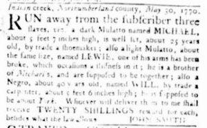 Dec 13 1770 - Virginia Gazette Rind Slavery 5