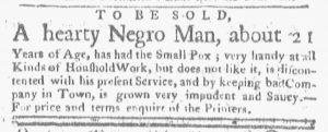 Dec 17 1770 - Boston-Gazette Slavery 1